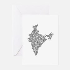 Word India Greeting Cards (Pk of 10)