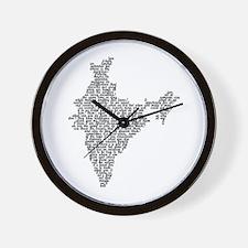 Word India Wall Clock
