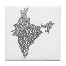 Word India Tile Coaster