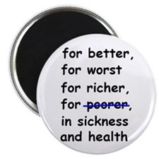 """WEDDING VOW FOR BETTER OR WOR 2.25"""" Magnet (10 pac"""