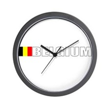 Belgium Flag (Dark) Wall Clock