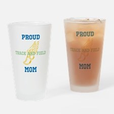 Track and Field Mom Drinking Glass