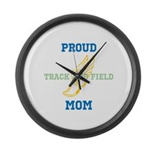 Track and Field Mom Large Wall Clock