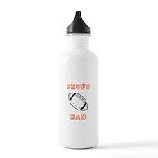 Proud Football Dad Water Bottle
