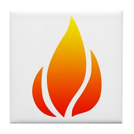 Fire Tile Coaster
