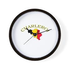 Charleroi, Belgium Wall Clock