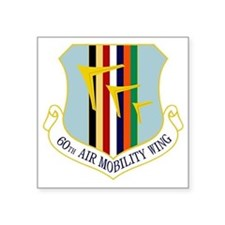 "60th Air Mobility Wing Square Sticker 3"" x 3"""