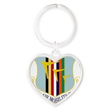 60th Air Mobility Wing Heart Keychain