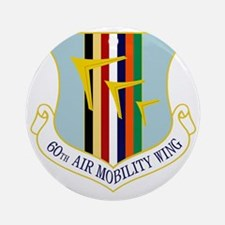 60th Air Mobility Wing Round Ornament