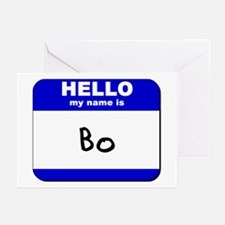 hello my name is bo  Greeting Cards (Pk of 10)