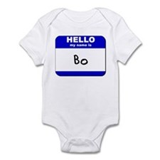 hello my name is bo  Infant Bodysuit