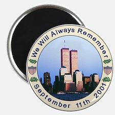 """World Trade Center- 2.5"""" round magnet"""