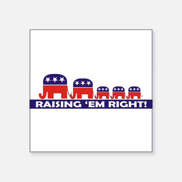Raising Em Right 3 (10x3) Sticker