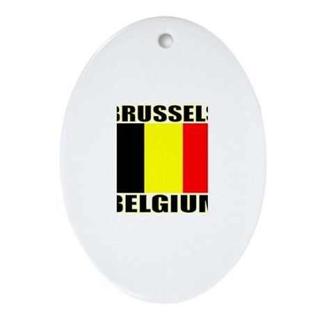 Brussels, Belgium Oval Ornament