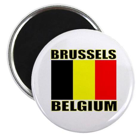 """Brussels, Belgium 2.25"""" Magnet (10 pack)"""