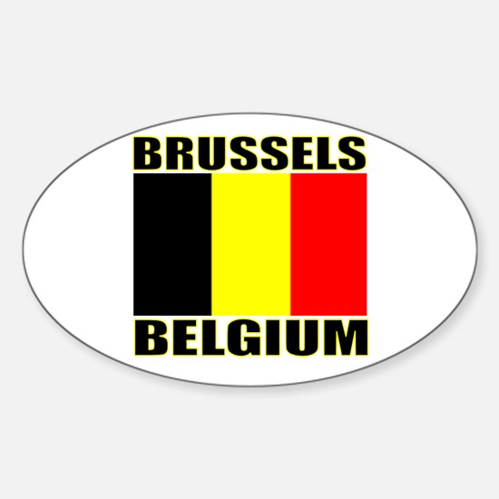 Brussels, Belgium Oval Decal