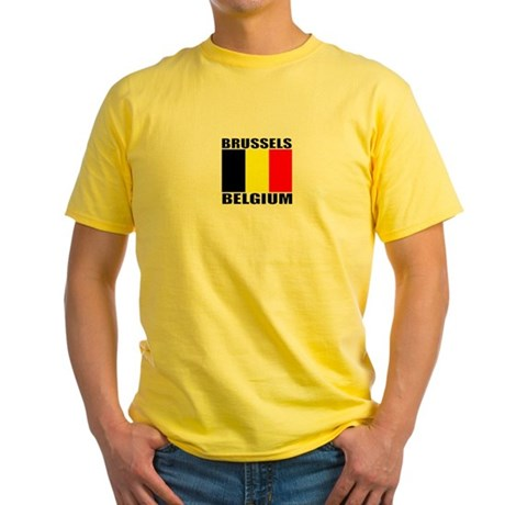 Brussels, Belgium Yellow T-Shirt