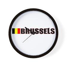Brussels, Belgium Wall Clock