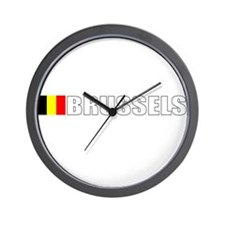 Brussels, Belgium Wall Clock