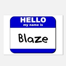 hello my name is blaze  Postcards (Package of 8)