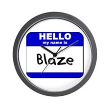 hello my name is blaze  Wall Clock