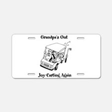 Grandpas Out Joy-Carting Again Aluminum License Pl
