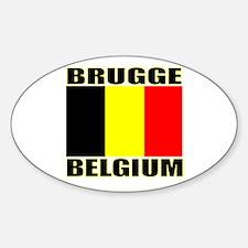 Brugge, Belgium Oval Decal