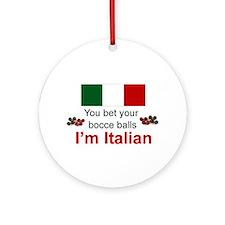 Italian Bocce Balls Ornament (Round)