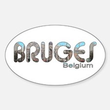 Bruges, Belgium Oval Decal