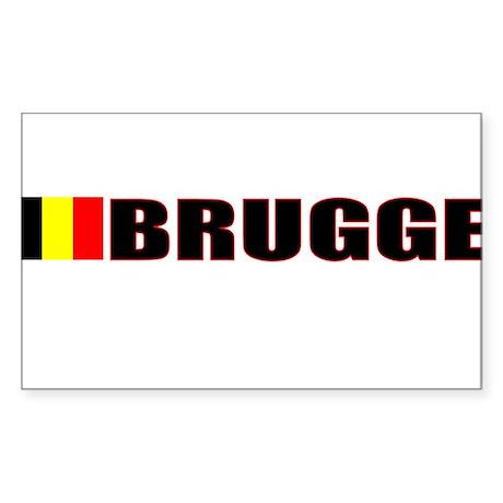 Brugge, Belgium Rectangle Sticker