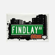 Findlay Av, Bronx, NYC Rectangle Magnet