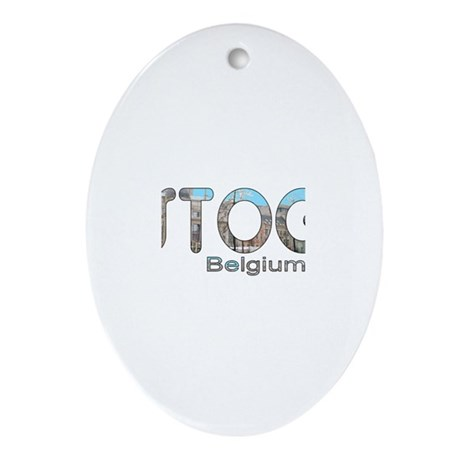 Bastogne, Belgium Oval Ornament