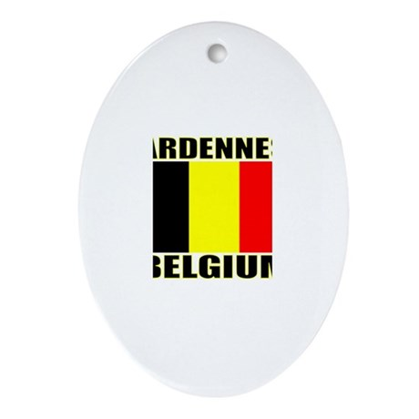 Ardennes, Belgium Oval Ornament