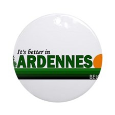 Its Better in Ardennes, Belgi Ornament (Round)