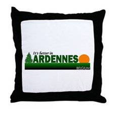 Its Better in Ardennes, Belgi Throw Pillow