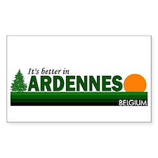 Its Better in Ardennes, Belgi Sticker (Rectangular