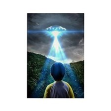Indigo Children UFO Encounter Rectangle Magnet