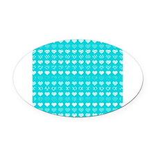 Tiffany Blue Aqua Love Valentine Hearts Pattern Ch