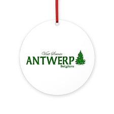 Visit Scenic Antwerp, Belgium Ornament (Round)