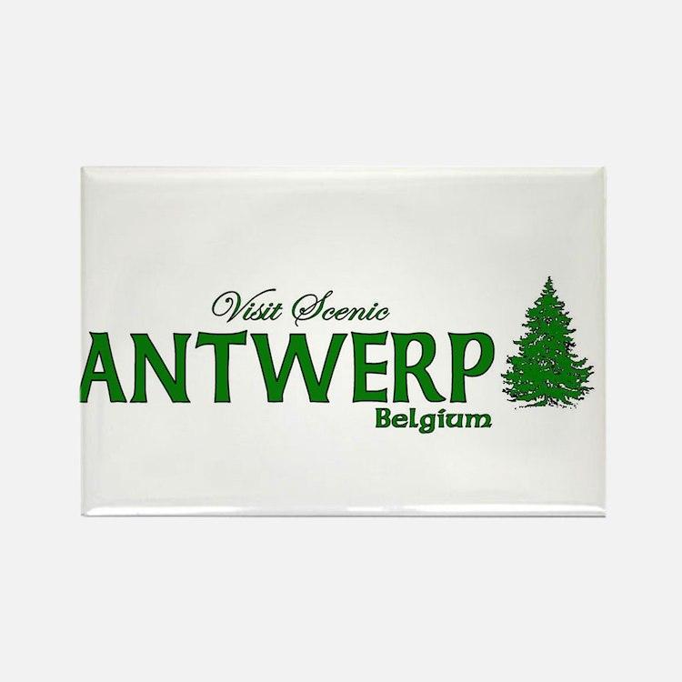 Visit Scenic Antwerp, Belgium Rectangle Magnet