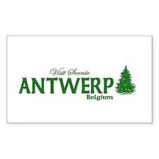 Visit Scenic Antwerp, Belgium Sticker (Rectangular