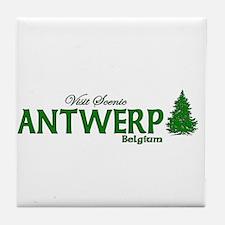 Visit Scenic Antwerp, Belgium Tile Coaster
