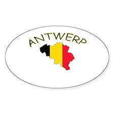Antwerp, Belgium Oval Bumper Stickers