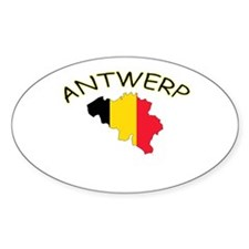 Antwerp, Belgium Oval Decal