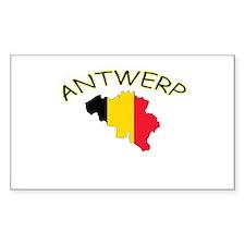 Antwerp, Belgium Rectangle Decal