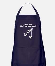 I Make Music. Whats Your Super Power? Apron (dark)