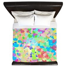 Bright Confetti Hearts King Duvet