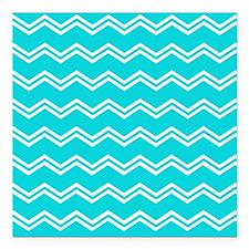 Tiffany Blue Aqua Beach Coastal Summer Double Chev