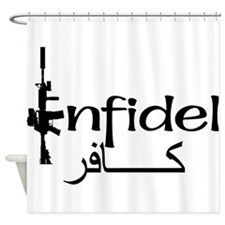 infidlearabic.png Shower Curtain