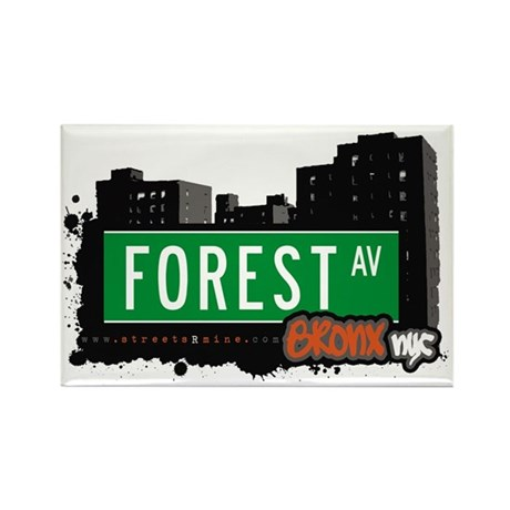 Forest Av, Bronx, NYC Rectangle Magnet